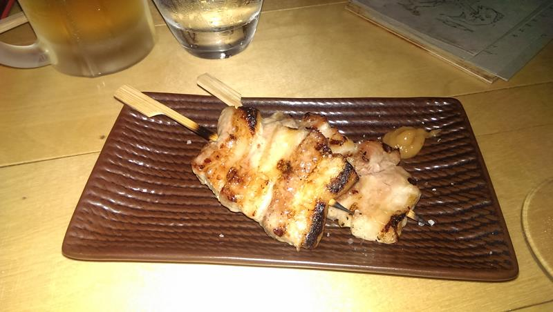 Pork belly skewers at Etsu Japanese Restaurant