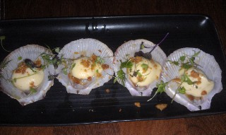 Scallops entree at Motion Bar and Grill Brisbane
